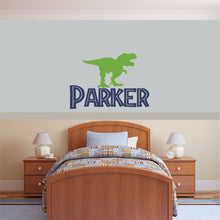 Load image into Gallery viewer, Personalized Name Dinosaur Wall Decal