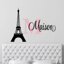 Load image into Gallery viewer, Personalized Name Paris Wall Decal