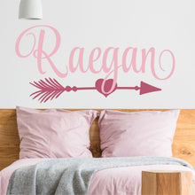 Load image into Gallery viewer, Personalized Name With Heart Arrow Wall Decal