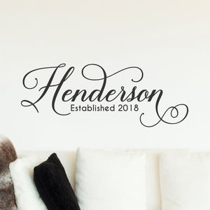 Personalized Family Name Wall Decal