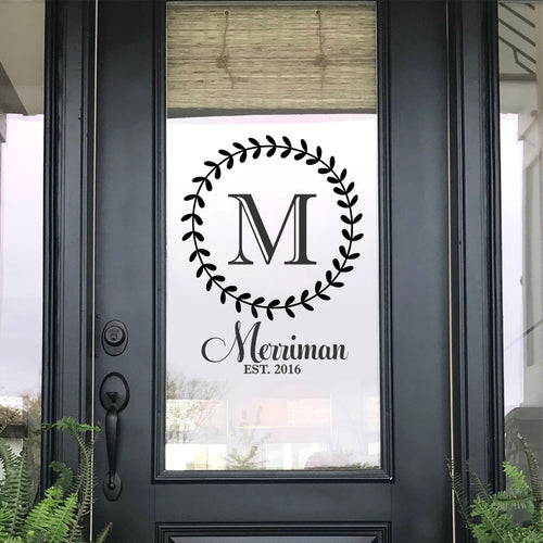 Family Name Front Door Decal
