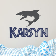 Load image into Gallery viewer, Personalized Name Shark Wall Decal