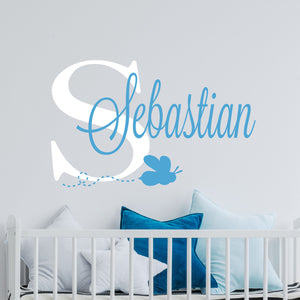 Personalized Name Bee Wall Decal