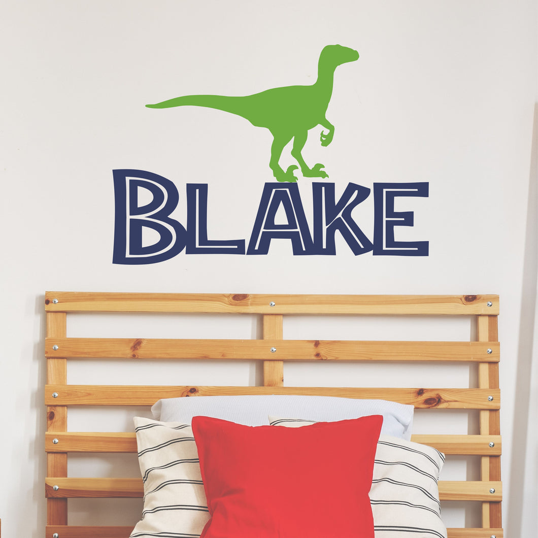 Personalized Name Dinosaur Wall Decal
