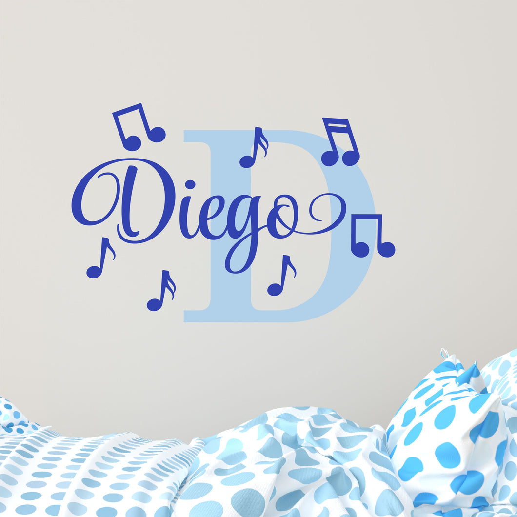 Personalized Name Music Wall Decal