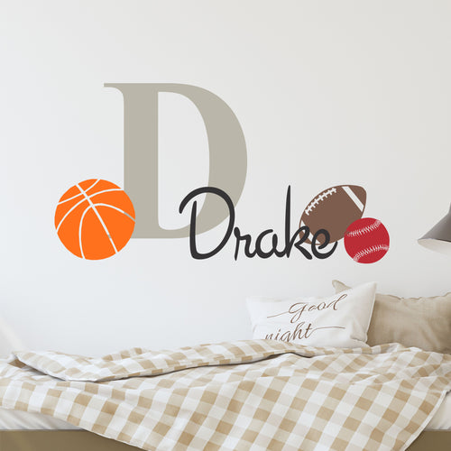Personalized Name Sports Wall Decal