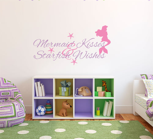 Mermaid Kisses and Starfish Wishes Wall Decal