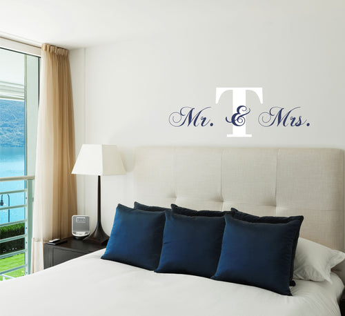 Personalized Mr. and Mrs. Initial Wall Decal