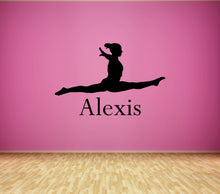 Load image into Gallery viewer, Personalized Name and Dancer Silhouette Wall Decal