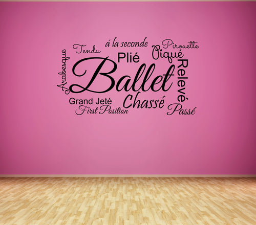 Ballet Word Wall Decal