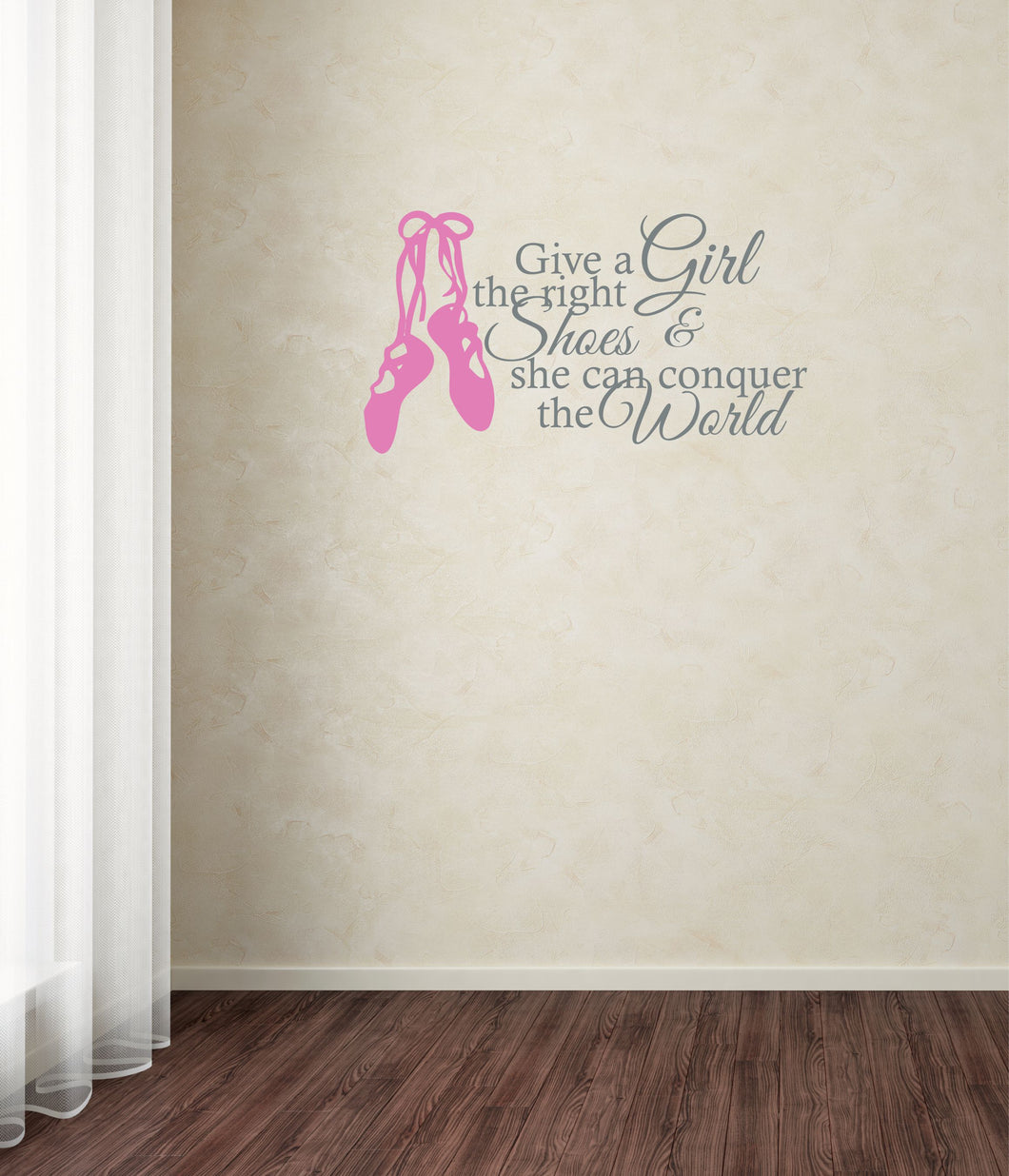 Give a Girl the Right Shoes Dancer Wall Decal