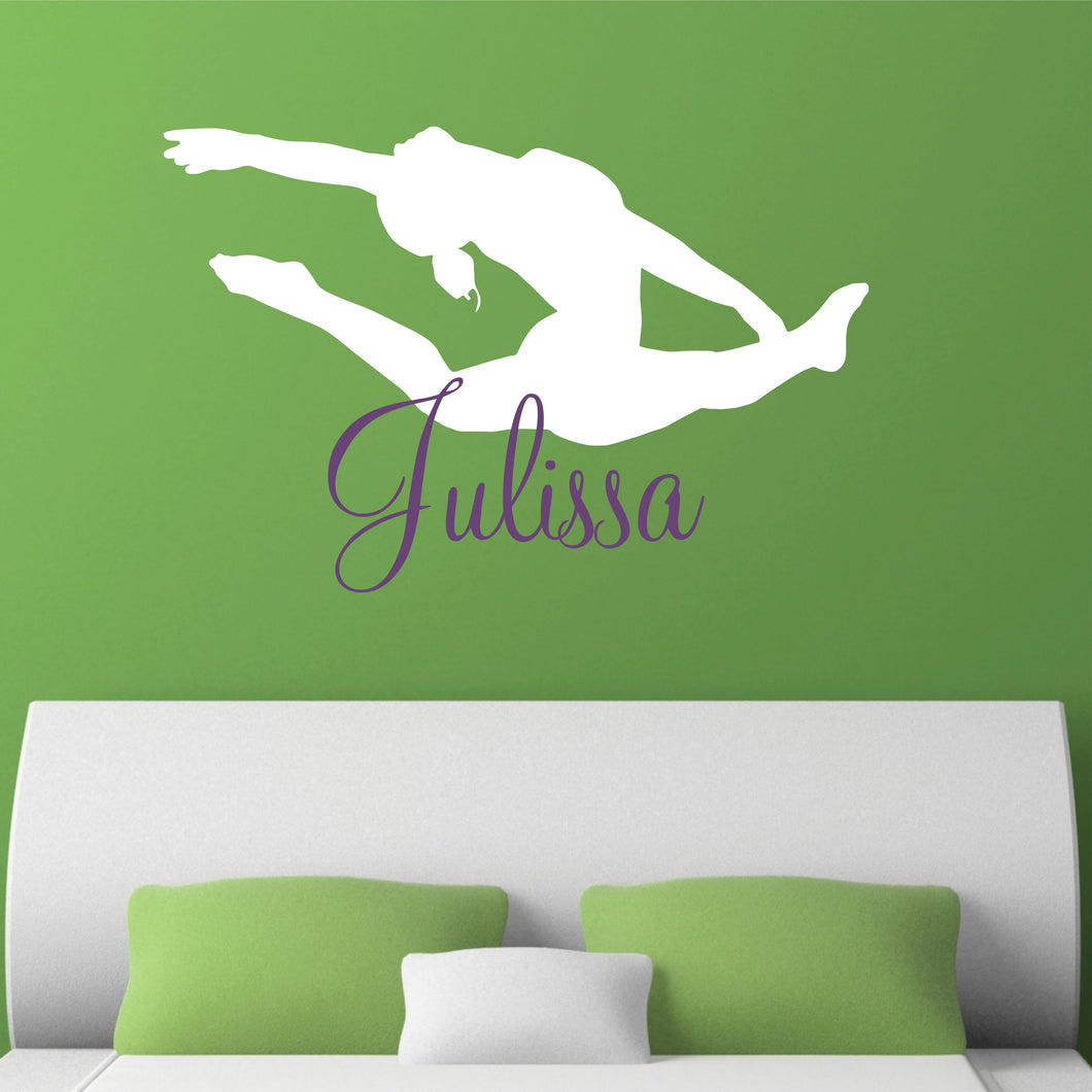 Personalized Name and Dancer Silhouette Wall Decal