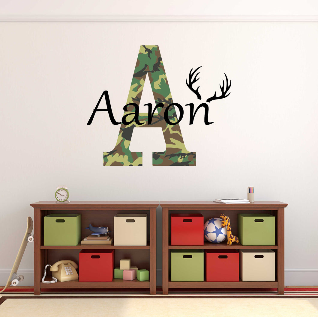Personalized Name Hunting Camo Wall Decal