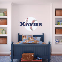 Load image into Gallery viewer, Personalized Name Baseball Wall Decal