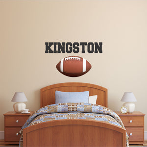 Personalized Name Football Wall Decal