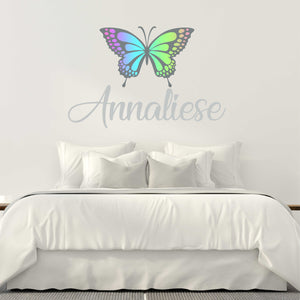 Personalized Name and Butterfly Wall Decal