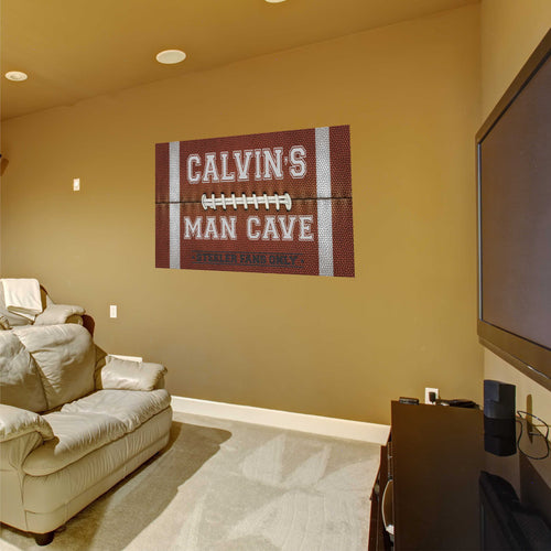 Personalized Name Man Cave Wall Decal