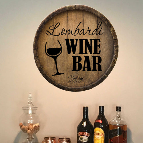 Personalized Wine Bar Wall Decal