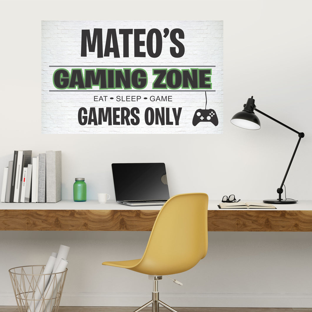 Personalized Name Gaming Wall Decal