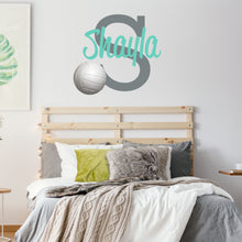 Load image into Gallery viewer, Personalized Name Volleyball Wall Decal
