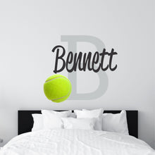 Load image into Gallery viewer, Personalized Name Tennis Wall Decal