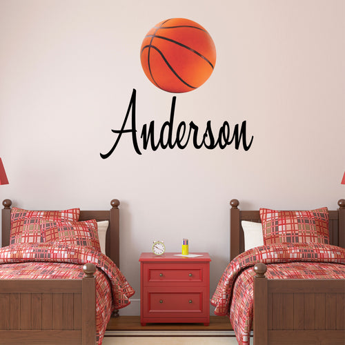 Personalized Name Basketball Wall Decal