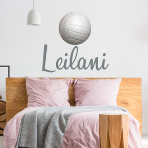 Personalized Name Volleyball Wall Decal