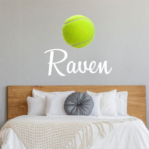 Personalized Name Tennis Wall Decal