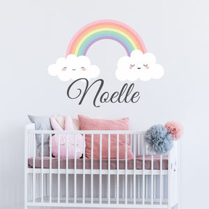 Personalized Name Rainbow Wall Decal