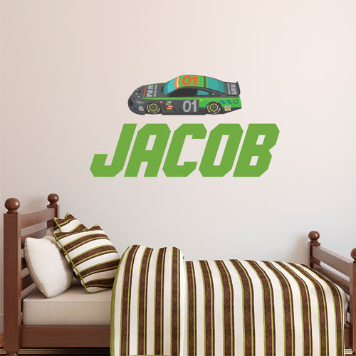 Personalized Name Racing Decal