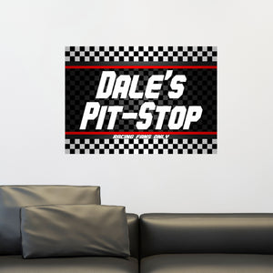Personalized Pit Stop Wall Decal