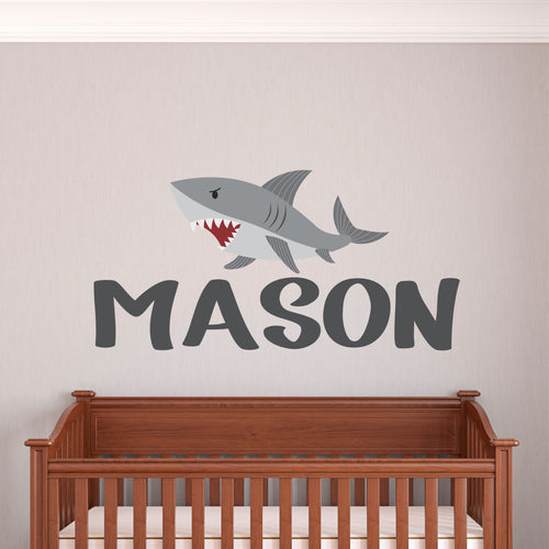 Personalized Name Shark Wall Decal