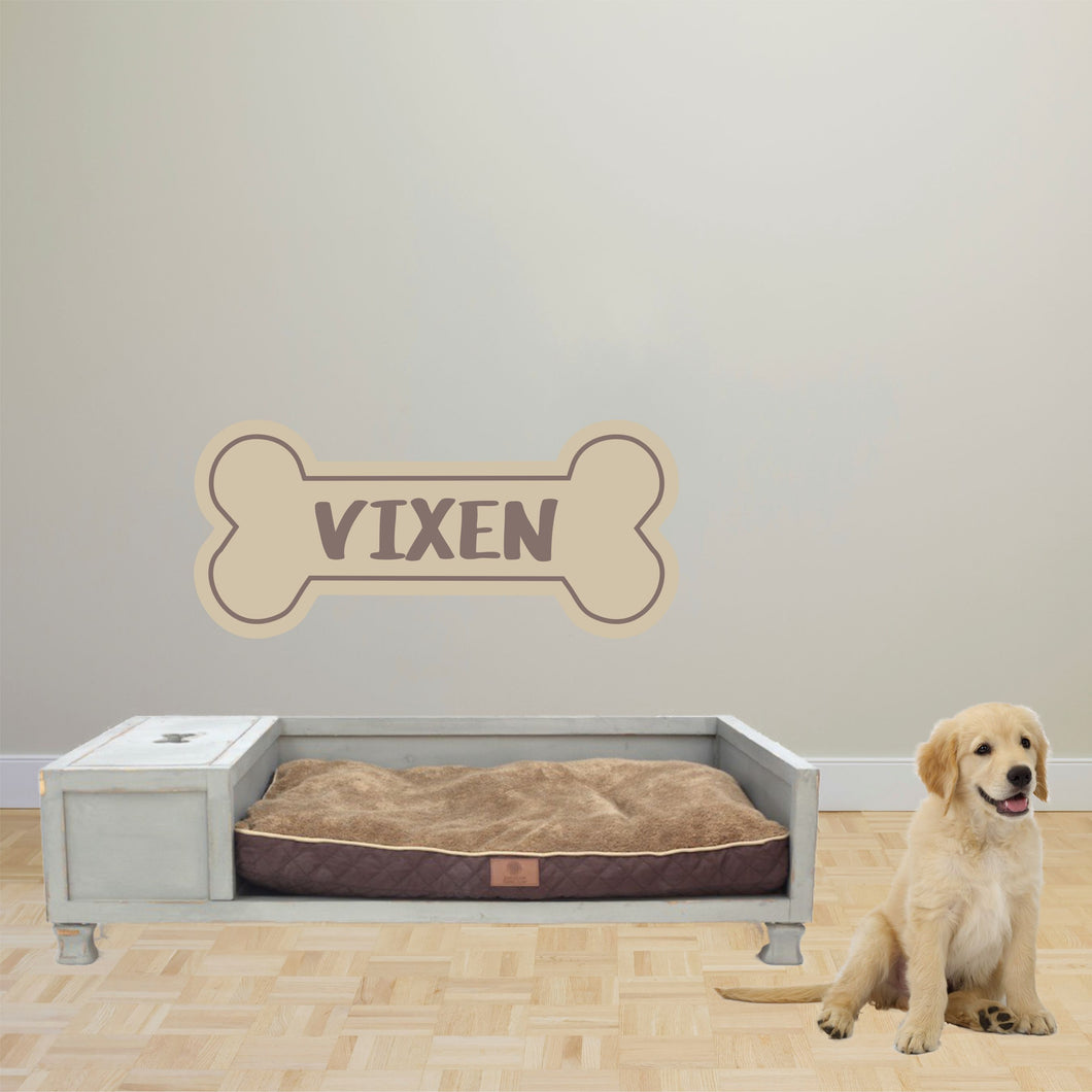 Personalized Name Dog Bone Wall Decal