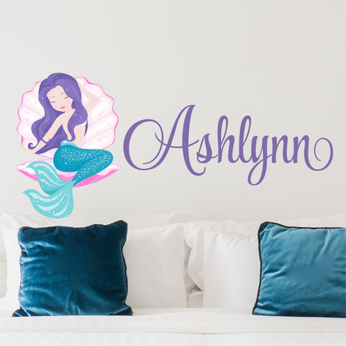 Personalized Name Mermaid Wall Decal