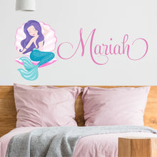 Load image into Gallery viewer, Personalized Name Mermaid Wall Decal