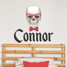 Load image into Gallery viewer, Personalized Name Skull Wall Decal