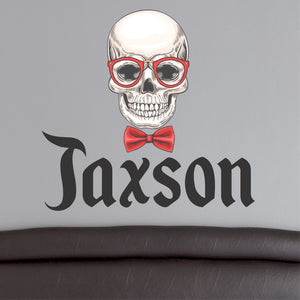 Personalized Name Skull Wall Decal