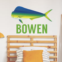 Load image into Gallery viewer, Personalized Name Fishing Mahi Wall Decal