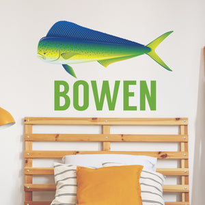 Personalized Name Fishing Mahi Wall Decal