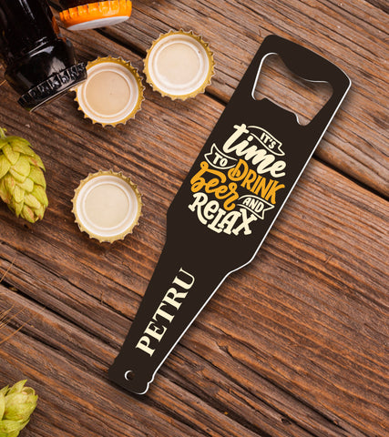 Desfacator de bere personalizat - Beer and relax