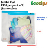Ecozips Flat Reusable Storage Bag 2 piece
