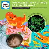 4 in 1 Puzzle - Dinosaurs Luminous  by Joan Miro ( Art Play Think ) 3 yrs+