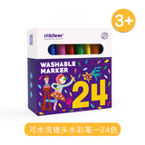 Mideer Washable Markers - Non-toxic 12 and 24 Colors Kids 3+