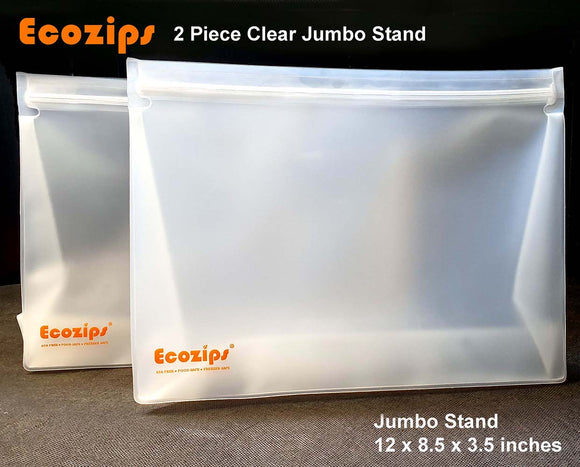Ecozips Jumbo Stand Reusable Storage Bag 2 piece