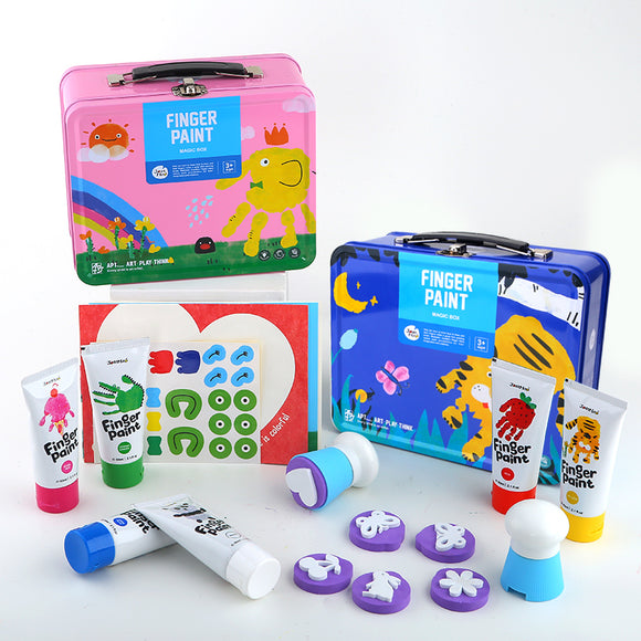 Joan Miro Finger Paint Set for Girls and Boys (Non-toxic, washable and kid-friendly)
