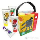 Finger Paint Jar Melo Washable Paint Kid-Safe Non-Toxic (Set of 7, 12)