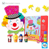 Kid's Fun Paper Cut Kit by Joan Miro (Colorful Papers Scissors Glue Stick Set DIY Kids Toy)