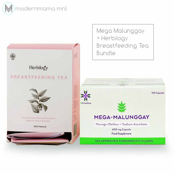 Mega Malunggay + Herbilogy Breastfeeding Tea Bundle