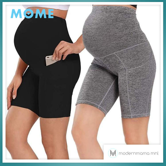 Mome Maternity Cotton Spandex Shorts