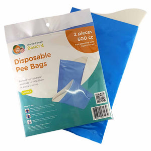 Orange and Peach Disposable Pee Bag